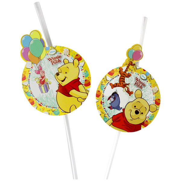 Winnie The Pooh Party Drinking Straws