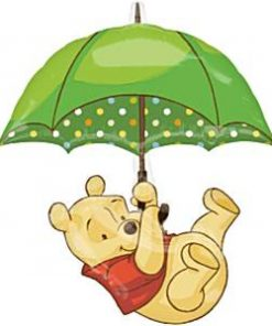 Winnie the Pooh Umbrella Foil Balloon