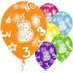 age 3 printed balloons