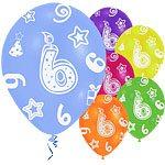 age 6 printed balloons