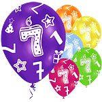 age 7 printed balloons