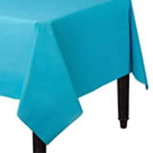 Turquoise Party Plastic Tablecover