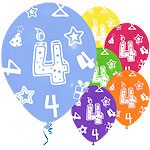age 4 printed balloons