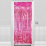 Pink Shimmer Door Curtain