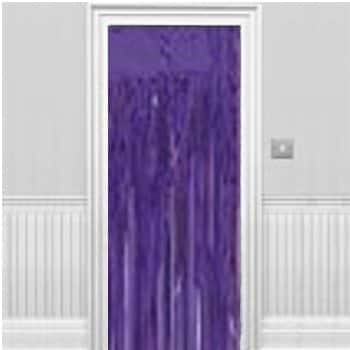 Purple Shimmer Curtain Decoration