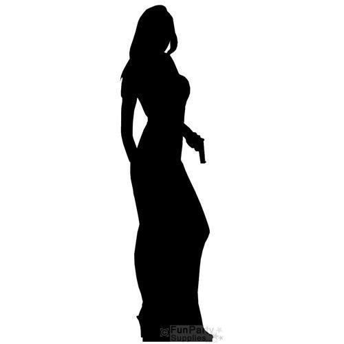 Secret Agent Girl Life Size Cardbaord Cutout