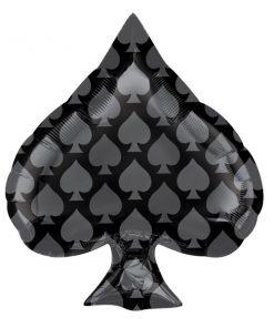 Black Spade Foil Balloon
