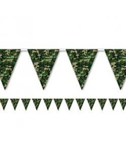 Army Camouflage Print Plastic Bunting