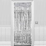 Silver Shimmer Door Curtain