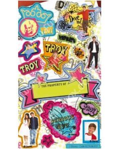 TROY (Zac Efron) Sticker Sheet