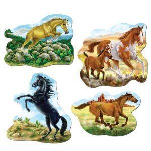 Horse cutout decorations