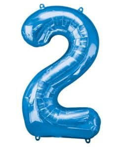 Blue Number 2 Balloon