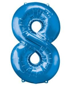 Blue Number 8 Balloon