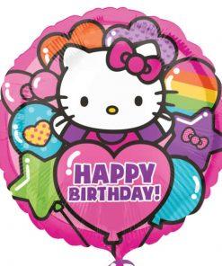 """Hello Kitty Rainbow """"Happy Birthday"""" Balloon"""