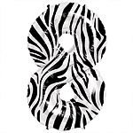 Zebra Print Number 8 balloon EACH (uninflated)