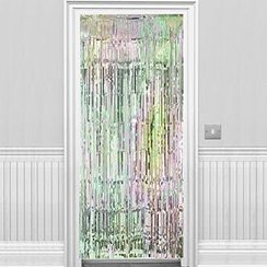 Iridescent door curtain
