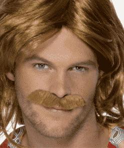 70's Super Trouper Adult Wig & Moustache Set