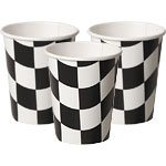 Grand Prix Black & White Paper Cups