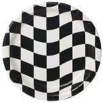 Grand Prix Black & White Paper Plates
