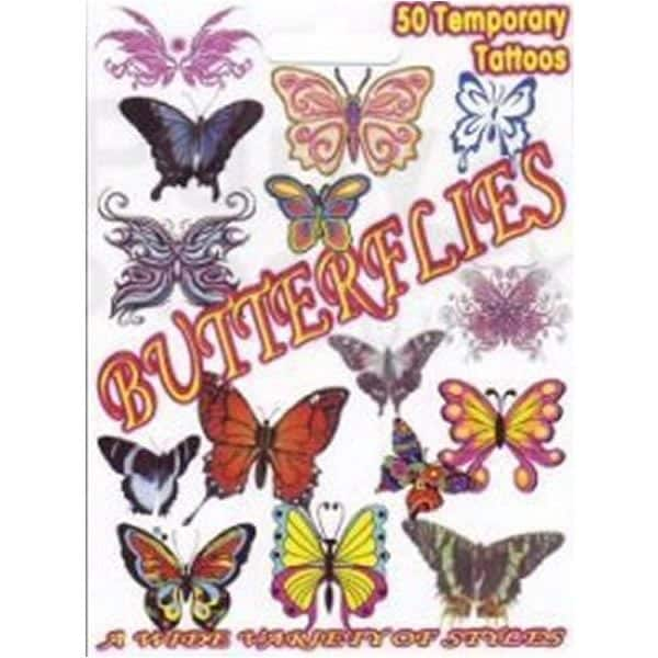 Bulk Butterfly Temporary Tattoo Gift Pack