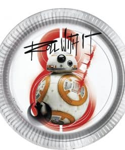 Star Wars The Last Jedi Party BB8 Paper Plate