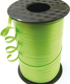 Lime Green Curling Balloon Ribbon