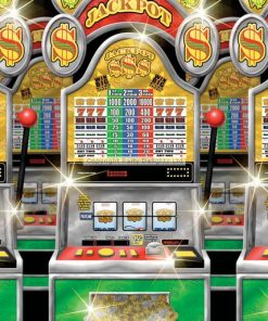 Scene Setters Casino Slot Machine Room Roll