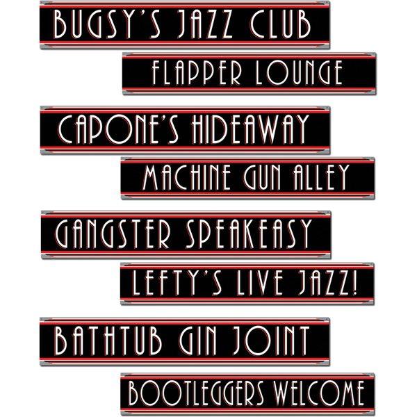 1920s Gangster Street Sign Cutouts
