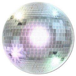 1970's Disco Ball Cutout - 33.5cm