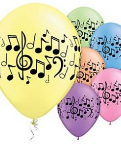 Music Notes Printed Latex Balloons