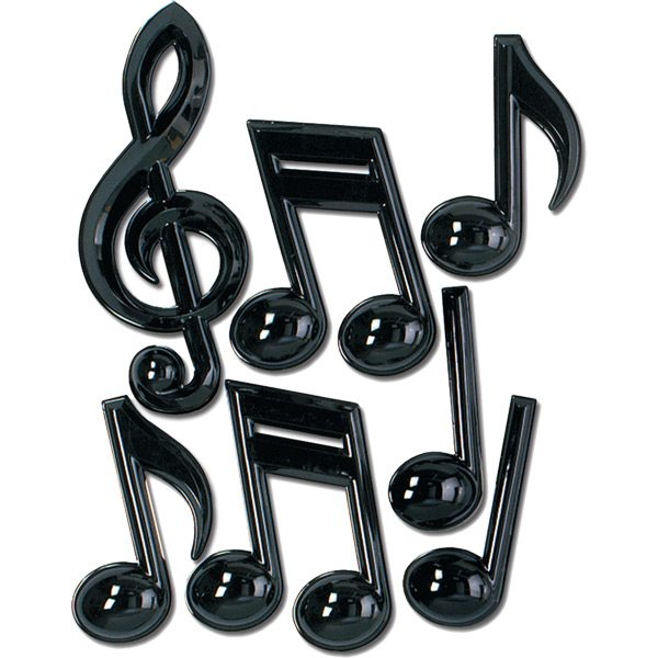 Musical Notes Plastic Party Decorations