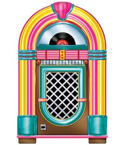 1950's Jukebox Cardboard Cutout