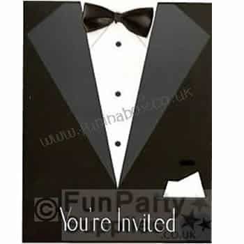 Black Tie Party Invites
