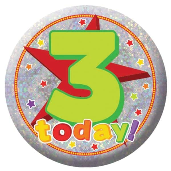 Happy 3rd Birthday Badge