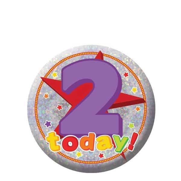 Happy 2nd Birthday Badge
