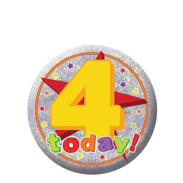 Happy 4th Birthday Badge