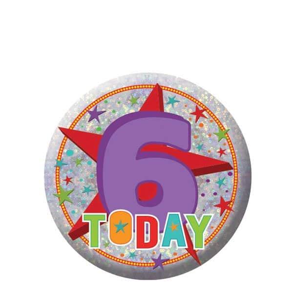Happy 6th Birthday Badge