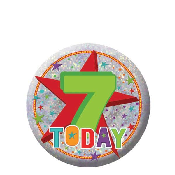 Happy 7th Birthday Badge