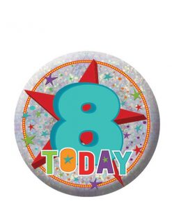 Happy 8th Birthday Badge