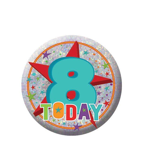 Happy 8th Birthday Badge