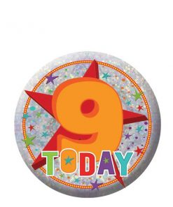 Happy 9th Birthday Badge