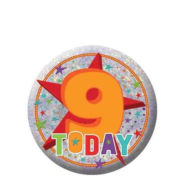 Happy 9th Birthday Badge