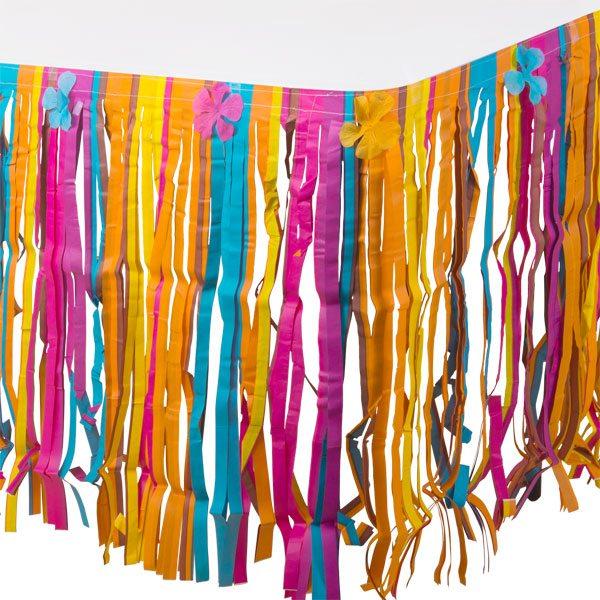 Floral Tissue Table Skirt - 3m