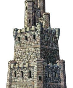 Jointed Castle Tower Cutout - 1.2m