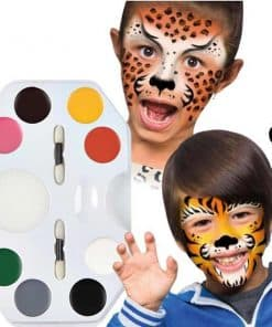 Wild Faces Face Paint Crayons Kit