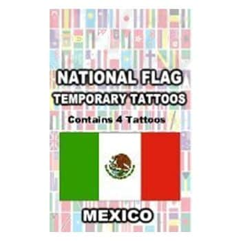 Mexican Flag Temporary Tattoos