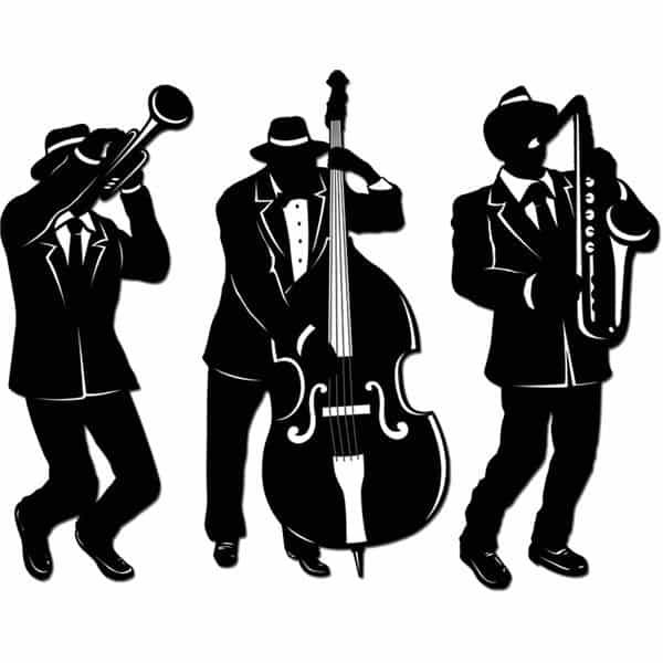 1920s Jazz Trio Silhouettes