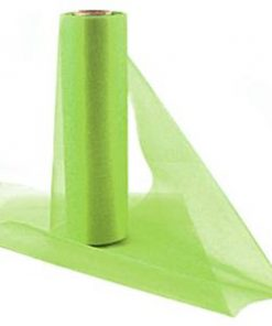 Lime Organza Sheer Roll