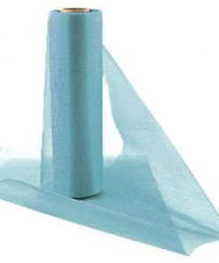 Mid Blue Organza Sheer Roll