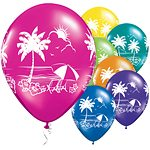 Tropical Vistas Printed Latex Balloons